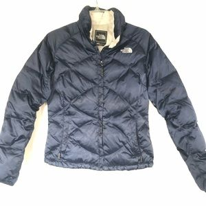 The North Face Navy and Gray 550 Coat | Size S